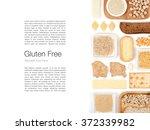 various gluten free grains and... | Shutterstock . vector #372339982