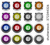 set of clock glossy web buttons....