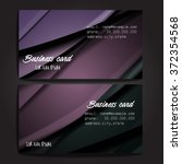 stylish business cards with... | Shutterstock .eps vector #372354568