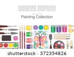 painting appliances  brushes ... | Shutterstock . vector #372354826
