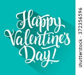 happy valentines day... | Shutterstock .eps vector #372356596