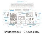 interior design landing page... | Shutterstock .eps vector #372361582