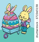 coloring. happy easter. cute...   Shutterstock .eps vector #372365158