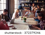 interior of coffee shop with... | Shutterstock . vector #372379246