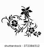 flower motif. | Shutterstock .eps vector #372386512