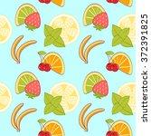 seamless pattern from cartoon... | Shutterstock . vector #372391825