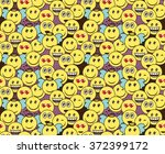 seamless doodle pattern with... | Shutterstock .eps vector #372399172