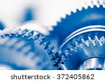 industry background with blue... | Shutterstock . vector #372405862