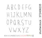 alphabet   number   handwriting ... | Shutterstock .eps vector #372408235