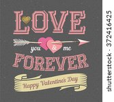 happy valentines day card... | Shutterstock .eps vector #372416425