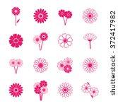 gerbera icons  vector... | Shutterstock .eps vector #372417982