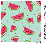 cute seamless vector pattern... | Shutterstock .eps vector #372422932