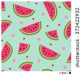 cute seamless vector pattern... | Shutterstock .eps vector #372422932