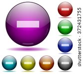 set of color minus sign glass...