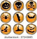 halloween icons   vector buttons