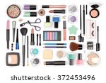 makeup cosmetics  brushes and... | Shutterstock . vector #372453496