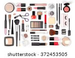 makeup cosmetics  brushes and... | Shutterstock . vector #372453505