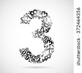 number from numbers... | Shutterstock . vector #372464356