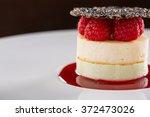 cheesecake with raspberries
