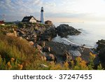 wide view of the portland head... | Shutterstock . vector #37247455