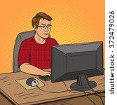 software developer coder at... | Shutterstock .eps vector #372479026