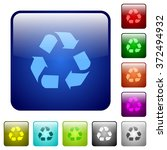 set of recycling color glass...