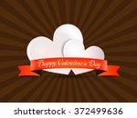 valentine's day white hearts... | Shutterstock .eps vector #372499636