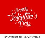 valentine's day calligraphy... | Shutterstock .eps vector #372499816