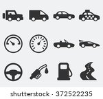 transportation and wheels on... | Shutterstock .eps vector #372522235