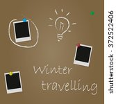 winter  travel photos on a... | Shutterstock .eps vector #372522406