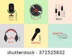 collection of music logos made...