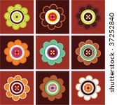 flower card collection | Shutterstock .eps vector #37252840