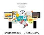 flat design illustration... | Shutterstock .eps vector #372530392