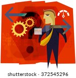 business decision abstract   Shutterstock .eps vector #372545296
