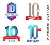 10 years anniversary logo   Shutterstock .eps vector #372547285