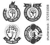vintage logo set. gym emblem ... | Shutterstock .eps vector #372551008