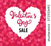 valentine's day sale card.... | Shutterstock .eps vector #372553492