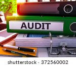 green office folder with... | Shutterstock . vector #372560002