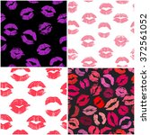 set of 4 seamless patterns with ... | Shutterstock .eps vector #372561052