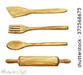 watercolor cooking clipart  ... | Shutterstock . vector #372568675