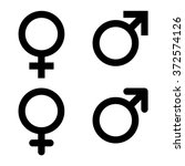 male and female symbol set .... | Shutterstock .eps vector #372574126