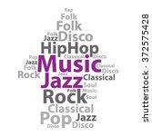 text cloud. music wordcloud.... | Shutterstock .eps vector #372575428