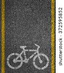 Bicycle sign on bicycle lane