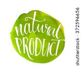 Natural Product Label. Green...