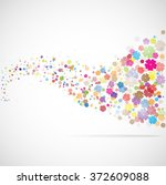 background with flowers... | Shutterstock . vector #372609088