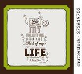 love card design  | Shutterstock .eps vector #372619702