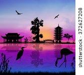 Beautiful Asian Landscape Near...