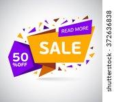 sale design template vector | Shutterstock .eps vector #372636838