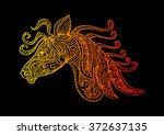 ornament horses | Shutterstock .eps vector #372637135