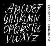 vector alphabet. hand drawn... | Shutterstock .eps vector #372657355